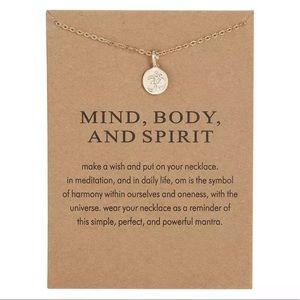 ✨NEW! Mind Body and Spirit Necklace With Card Cute